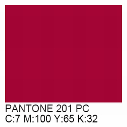 PMS 201 Color http://www.rivercityts.com/pms-color-chart.html